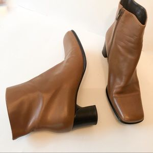 Via Spiga Ankle Boots Lower Heel Tan Size 7 1/2